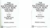 Complete Encyclopedia of Popular Music and Jazz, 1900-1950.  (Roger D. Kinkle)  - 0870002295