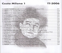 Costa Milona                 (Truesound Transfers 3006)