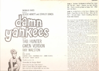 Damn Yankees       (RCA LOC-1047)      Original Broadway cast LP