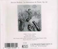 La Damnation de Faust   (Monteux;  Crespin, Turp, Roux, Shirley-Quirk)   (2-Music & Arts 928)