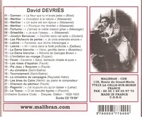 David Devries          (Malibran 540)