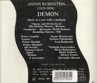 Demon  (Rubinstein)  (Melik-Pashaev;  Ivanov, Kozlovsky, Kuznezova)   (2-Great Hall 030/31)