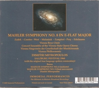 Dimitri Mitropoulos  (Mahler)   (2-Immortal Performances IPCD 1005)