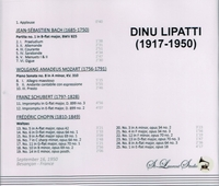 Dinu Lipatti, Vol. I       (St Laurent Studio YSL 33-066)