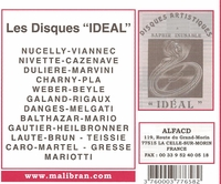 Disques  'Ideal'        (2-Malibran 658)