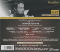 Don Giovanni   (Bohm;  London, Simoneau, Grummer, Kunz, Weber)   (2-Archipel 0234)