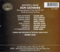Don Giovanni  (Solti;  Siepi, Gencer, Jurinac, Freni, Richard Lewis, Geraint Evans)  (3-Living Stage 1022)