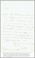Donizetti, Gaetano. 1 signed embossed ALS with postmark. Written in French & Italian and text description,  5.25x8