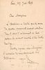 Theodore  Dubois   -   signed note