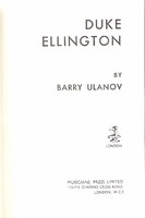 Duke Ellington   (BARRY ULANOV)    (0-306-70727-6 )