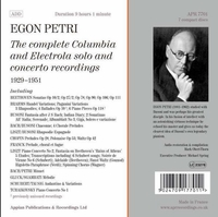 Egon Petri - Columbia and Electrola     (7-Appian APR 7701)