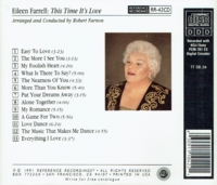 Eileen Farrell;  Robert Farnon - This Time it's Love   (Reference Recordings  RR-42)
