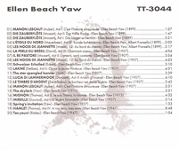 Ellen Beach Yaw          (Truesound Transfers 3044)