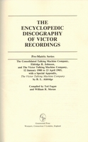 Encyclopedic Discography of Victor Recordings, Vol. I  (Fagan & Moran)   031323003X