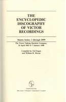 Encyclopedic Discography of Victor Recordings, Vol. II   (Fagan & Moran)  031325320X