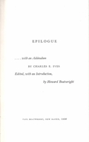 Epilogue       (Charles E. Ives)