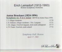 Erich Leinsdorf, Vol. IX  (Bruckner 8th)   (St Laurent Studio YSL T-497)