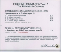 Eugene Ormandy, Vol. I            (St Laurent Studio YSL 78-178)