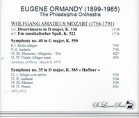 Eugene Ormandy, Vol. II      (St Laurent Studio YSL T-397)
