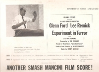 Experiment in Terror (Mancini) (RCA LSP 2442)  Original Soundtrack LP