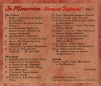 Ferruccio Tagliavini;  Pia Tassinari;  Magda Olivero  -  in Memoriam       (The Record Collector TRC 7)