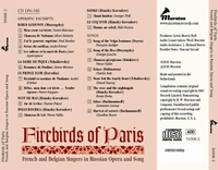 Firebirds of Paris  -  French & Belgian singers             (Marston 51008)