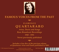 Florence Quartararo    (3-Immortal Performances IPCD 1030)