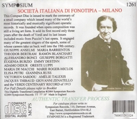 Fonotipia   -    A Centenary Celebration        (Symposium 1261)