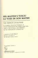 French HMV Catalogue,  Voix de Son Maitre  (Kelly)  0313273332