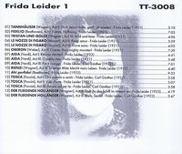 Frida Leider, Vol. I         (Truesound Transfers 3008)