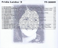 Frida Leider, Vol. II            (Truesound Transfers 3009)