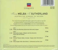 From Melba to Sutherland - Australian Singers on Record   (4-Decca Eloquence 482 5892)