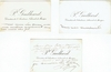 Gailhard, Pedro, �Directeur de l�Academie Nationale de Musique�. 3 inscribed Cartes de Visite - 1 signed. Approx, 4.25x2.75 Some very slight smudging on one card.