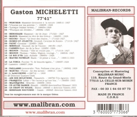 Gaston Micheletti       (Malibran 506)