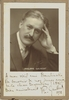 Gaubert, Philippe. 1 inscribed and signed sepia photo mounted on board with hook, P. Abers-Paris, 1928, 5x7.25
