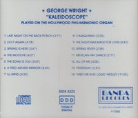 George Wright    (Hollywood Phil. Organ)     (Banda 3322)
