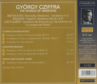 Georgy Cziffra  -  The World of Variation - Beethoven, Brahms & Liszt-Auber   (Archipel 0376)