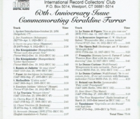 Geraldine Farrar  -  Commemorative Issue       (IRCC  CD 805)
