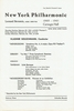 Golschmann, Vladimir -  Unsigned NYPO 1961  program