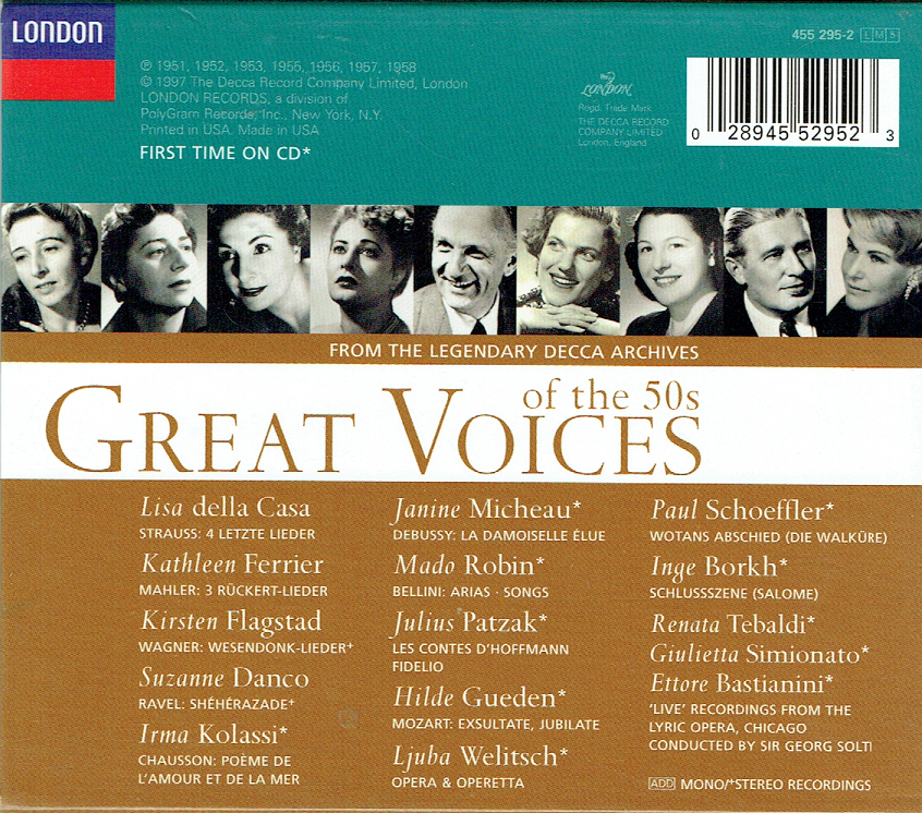 great voices of the 50s from decca s legendary archives 5 london