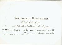 Grovlez, Gabriel - Inscribed CDV