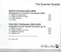 Guarneri Quartet, Vol. I   (St Laurent Studio YSL 33-698)