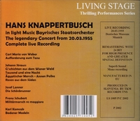 Hans Knappertsbusch   (Living Stage 1005)