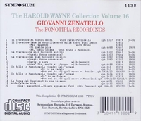 Harold Wayne, Vol. XVI      (Giovanni Zenatello)      (Symposium 1138)