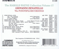 Harold Wayne, Vol. XVII       (Giovanni Zenatello)        (Symposium 1148)