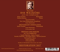 Walkure, Act III (Traubel, Janssen) - Tristan, Act II, 1944 (Melchior, Traubel)  (2-Immortal Performances IPCD 1093)