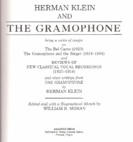 Herman Klein and The Gramophone    (0931340187)