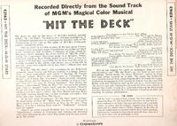 Hit the Deck     (M-G-M  E3163)     Original M-G-M Soundtrack LP