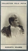 Holm�s, Augusta. 1 ALS with dried flower ornamentation, 2-face,  March 23 1891 5.25x3.5. / 1 sepia photo card, Collection F�lix Potin, 1.75x3
