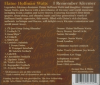 I Remember Klezmer  -  Elaine Hoffman Watts & Susan Watts